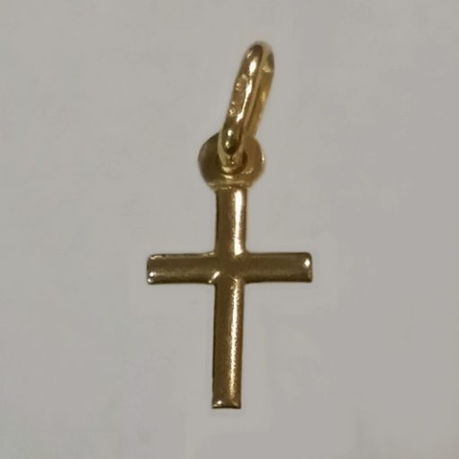 9ct Gold Cross round 2cm