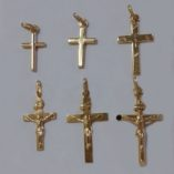 9ct-9kt-gold-cross-crucifix-pendants
