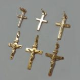9ct-gold-cross-crucifix-pendants