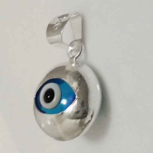 Sterling Silver double sided lucky Eye charm 10mm