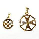 9ct-gold-maltese-cross-pendant-diamond-cut-hexagonal