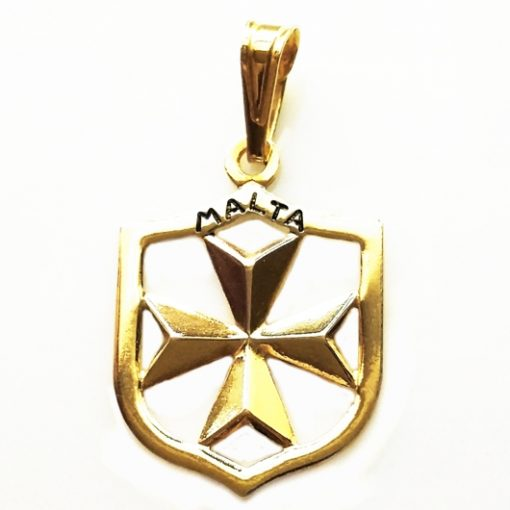 9ct Gold Maltese Cross Coat of Arms pendant