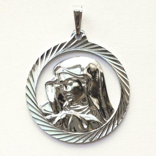 Virgin Mary pendant Sterling Silver