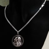 virgin-mary-pendant-sterling-silver-Curb-chain