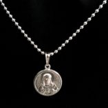 Sacred-Heart-Jesus-pendant-Sterling-Silver-Ball-chain