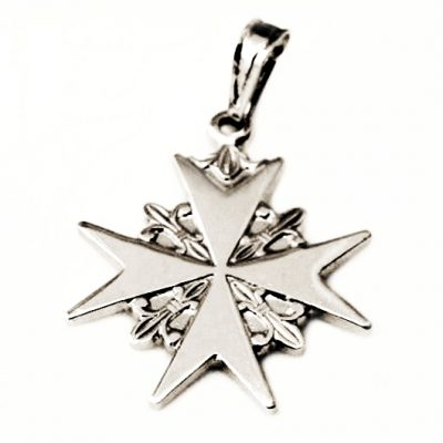 Order of St John Maltese Cross pendant Sterling Silver