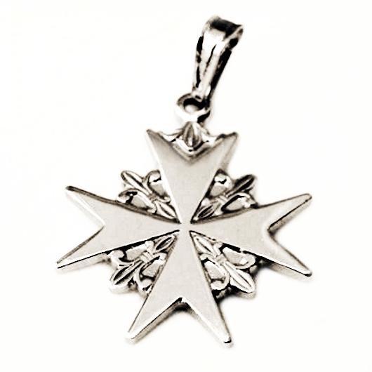 Order Of St John Maltese Cross Pendant Sterling Silver