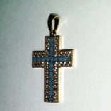 9ct-9kt-gold-cross-pendant-cabochon-Turquoise
