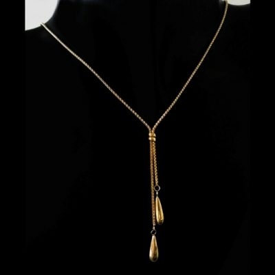 9ct Gold diamond cut fold over Popcorn necklace 46cm Italy
