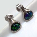 black-opal-earrings-lightning-ridge-sterling-silver-lightning-ridge-Australia
