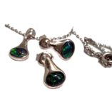 black-opal-earrings-pendant-lightning-ridge-sterling-silver-lightning-ridge-Australia
