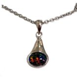 black-opal-pendant-lightning-ridge-sterling-silver-lightning-ridge-Australia