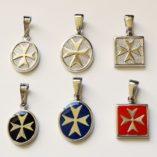 maltese-cross-pendants-sterling-silver-oval-square