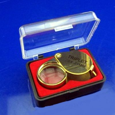 10x magnification loupe gold tone foldable