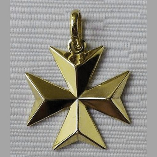 18ct Gold Maltese Cross pendant 2.5cm solid