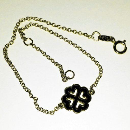 9ct 9kt Gold bracelet Greek Cross hearts ALORO