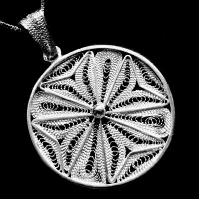 Maltese Cross filigree Sterling Silver pendant 2.4cm