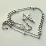 sterling-silver-rosary-beads-necklace-4mm-balls-Our-Lady-medal