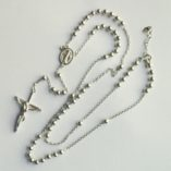 Sterling Silver rosary beads necklace 4mm