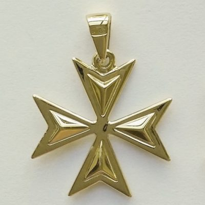 9ct Gold Maltese Cross Amalfi pendant 2.1cm