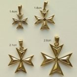 9ct-gold-maltese-cross-Amalfi-pendants