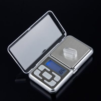Digital mini scales High Quality 500g x 0.1g silver