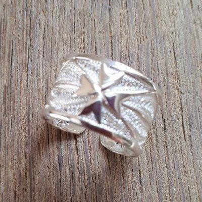 Filigree ring Maltese Cross Sterling Silver