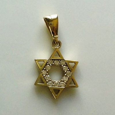 9ct Gold Star of David pendant charm