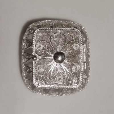 Sterling Silver filigree trinket box Rectangle