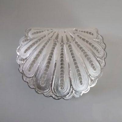 Sterling Silver filigree keepsake box Shell