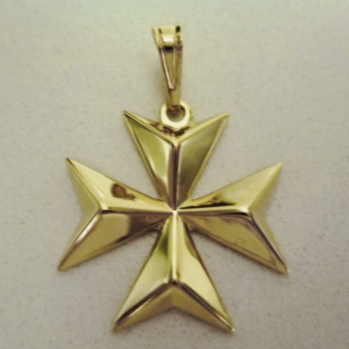 9ct Gold Maltese Cross pendant solid