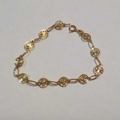 9ct Gold Bracelet Maltese Cross 8mm