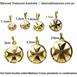 9ct-gold-Maltese-Cross-double-sided-pendants