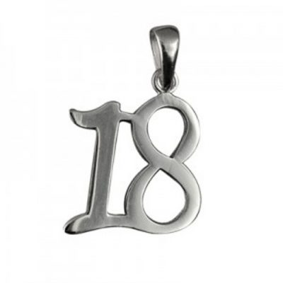 18th birthday pendant sterling silver