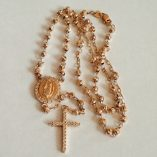 9ct-rose-Gold-rosary-diamond-cut-beads-necklace