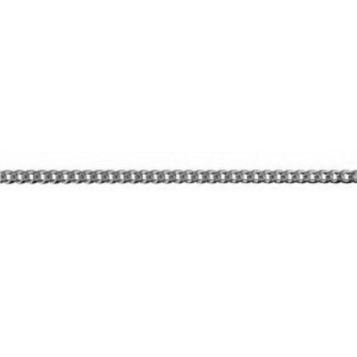 9ct white Gold chain bevelled Curb 2.1mm 50cm