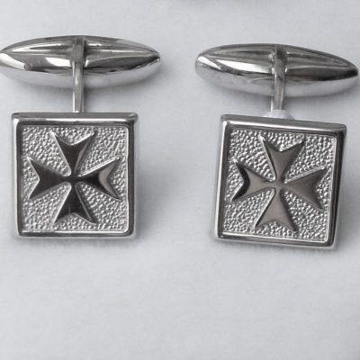 Maltese Cross cufflinks Sterling Silver Square