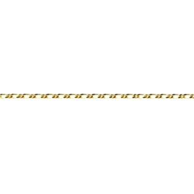 9ct Gold chain Figaro 1:1 diamond cut 1.4mm